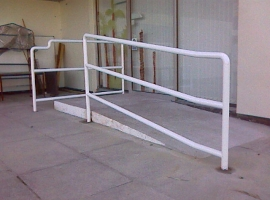 Lanner School - Disabled ramp and hand rail